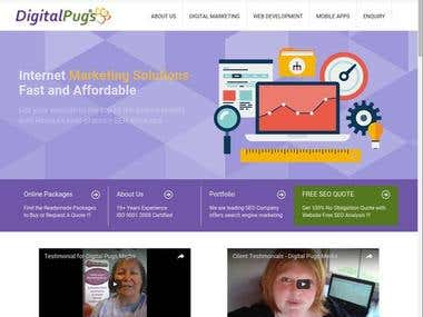 Digital marketing company services showcase portal.
