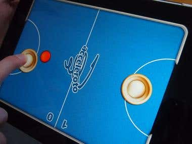 iPad Pong game