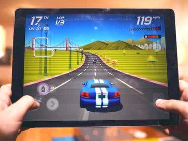 Car racing game for iOS