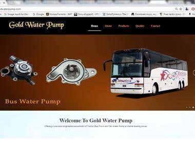 Gold Water Pump
