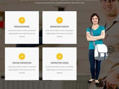 Custom service providers websites
