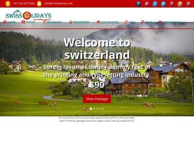 Travel booking company portal