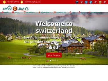Travel booking company portal