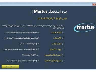 Translating Martus Guide from English to Arabic