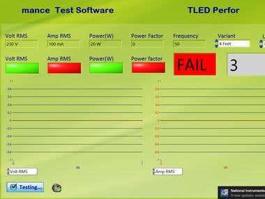 LED Tublight Testing Software