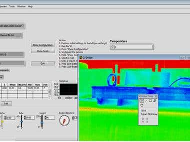 Flir thermal camera interfacing with LabVIEW
