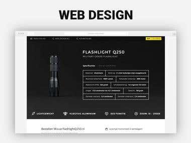 Web Design Flashlight Shop