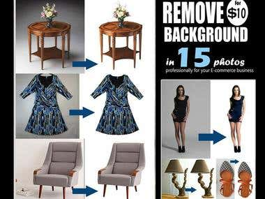 REMOVE BACKGROUND neat&clean for $10