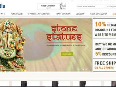 Ganges india e-commerce website