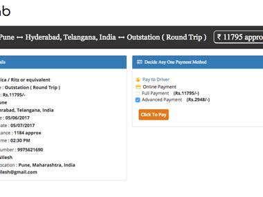 Online Cab Booking Website