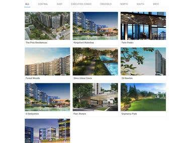 Real estate website : Providing private homes and condos