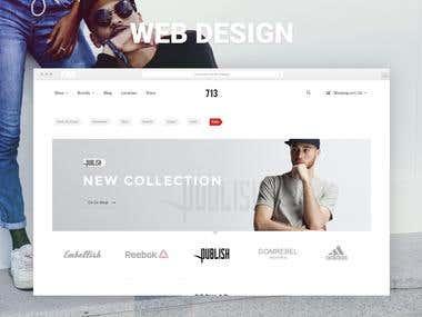 Web Design Clothing Store