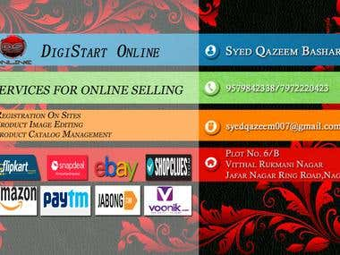 Visiting Card Of DigiStart Online