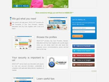 Kidzo.ca Codeignitor Website