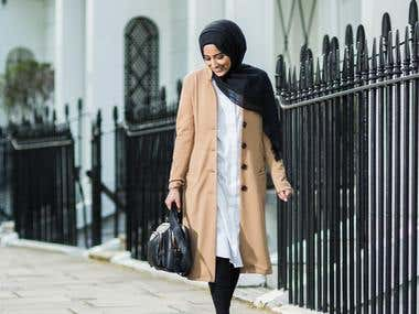 Fashion shoot for luxury brand
