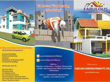 Real estate company Fabulous construction voucher design