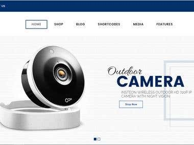 CCTV Camera Website Project - Only Template