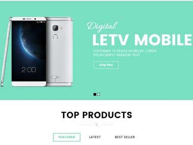 LETV Mobile Company Website Template