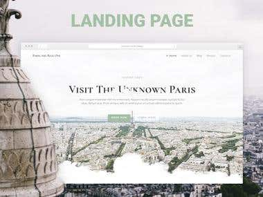 Landing Page Excursions in Paris