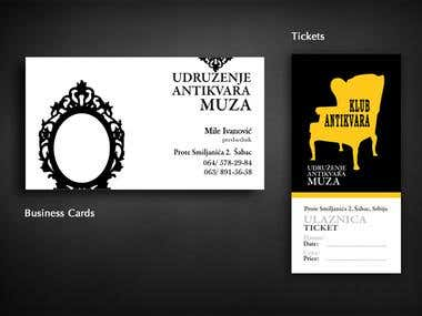 Ticket Design & Business Cards