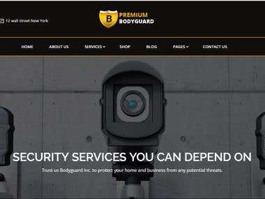 Security Website Template Designed