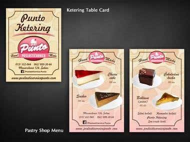 Ketering Card Design & Pastry Shop Menu