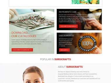 Website design and developed for Surgicrafts