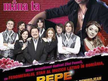 """Vatra Neamului"" restaurant event posters"