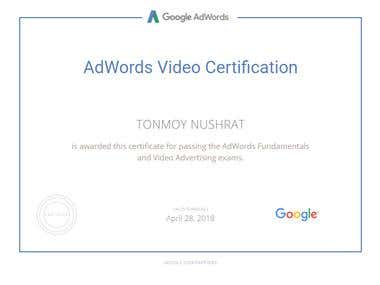Adwords Vedio Certification