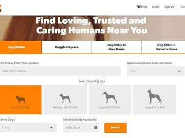Wooflinks Dog Caring website