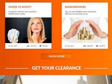 "Website design."" Bad borrowers"". US."