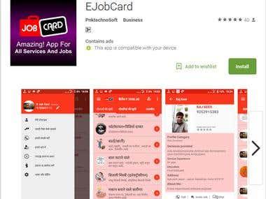 JobCard Service app