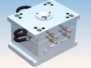 Injection molding by Solidworks