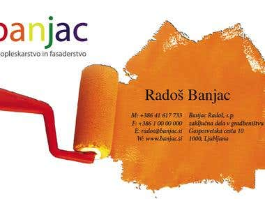 Business Card for a painting company BANJAC