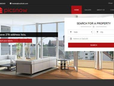 Real Estate Site - Back & Front End
