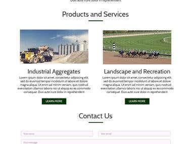 Sand retailer company website