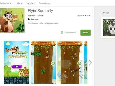 Press Release - Flyin' Squirrely (Android/iOS Gaming App)