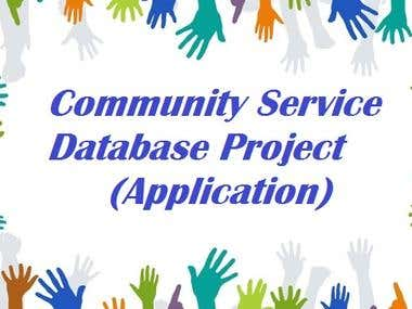 Community Service Database Project