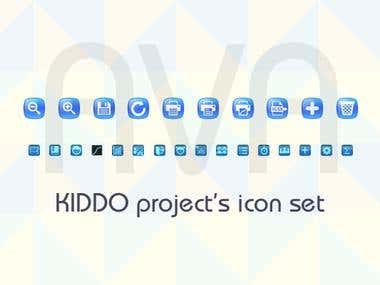 Icons Suite for a Desktop Program