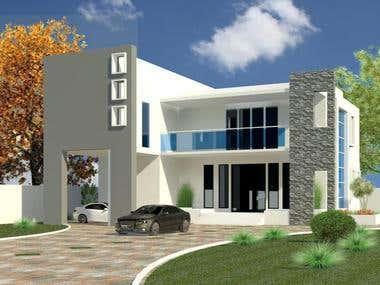 Building architecture by Revit