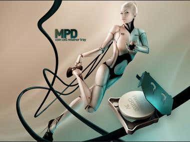MPD 3D Magazine Print Ad