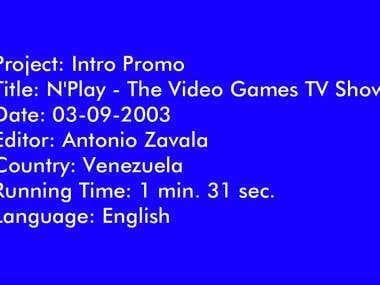 Intro Promo TV Show