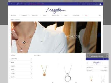 Magnolia jewelry: E-commerce Jewelry Website