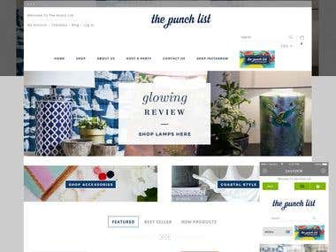 The punch list: E-commerce website