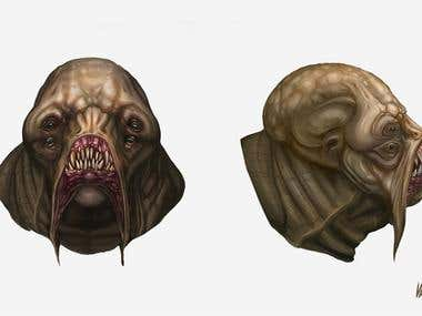 Creature Head design
