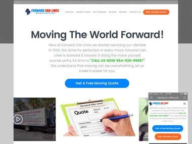 Forward Van Lines Landing Page: Quote System