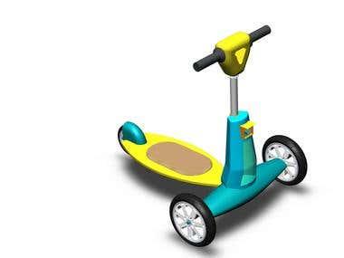 3D model kid bike