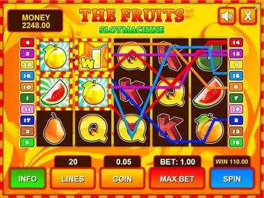HTML5 slot machine game