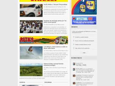 Web Design Revista Rutas 4wd