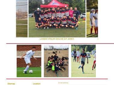 Website for football club